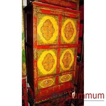 Armoirette 4 portes et 2 tiroirs tibet style Chine -C0338