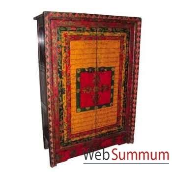 Armoire 2 portes tibetain style Chine -C0383