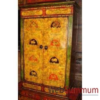 Armoirette 2 portes tibetain style Chine -C0605
