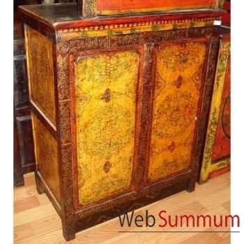 Armoirette 2 portes tibetain style Chine -C0606