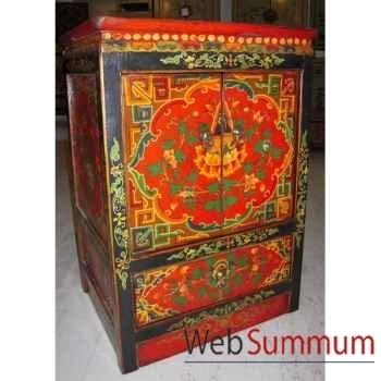 Armoirette 2 portes et 1 tiroir tibetain style Chine -C0608