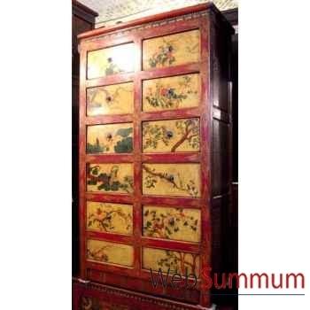 Armoire 10 tiroirs tibetain style Chine -C0613