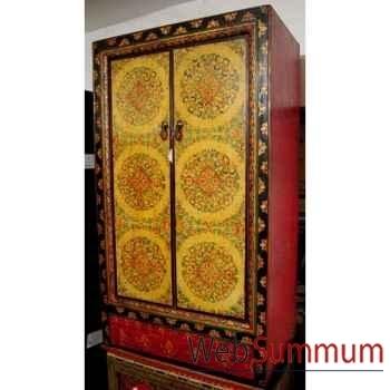 Armoire 2 portes et tibetain style Chine -C0876