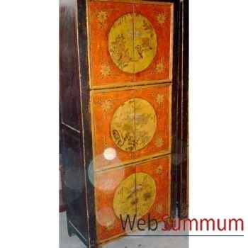 Armoire mongole 6 portes style Chine -C0910