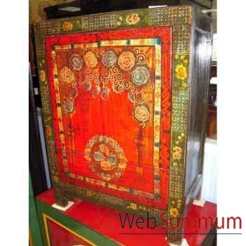 Armoirette tibetaine 2 portes style Chine -C0915