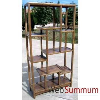 Etagère asymétrique simple naturelle style Chine -CHD002NAT