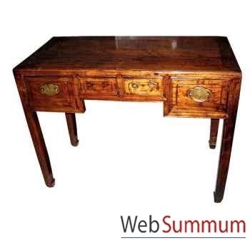 Petit bureau 2 tiroirs style Chine -CHN206