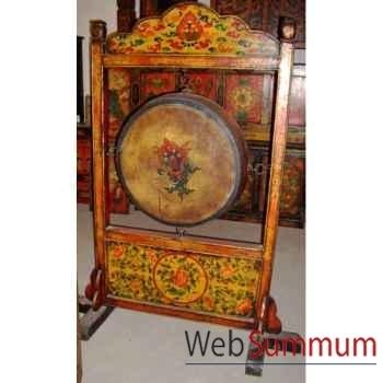 Gong petit modèle sur socle tibet style Chine -C0375