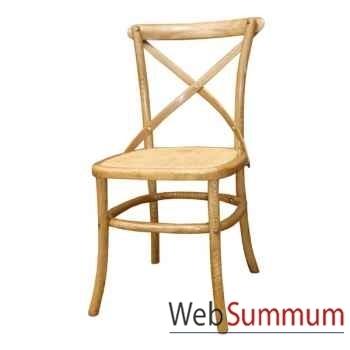 Chaise croisillon, siège complet Rotan style Chine -C0595NAT-TR