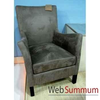 Fauteuil 61023 coton écru style Chine -C1025