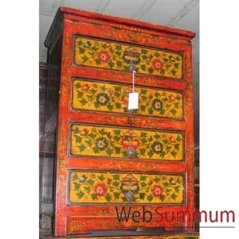 Chiffonnier 4 tiroirs tibet style Chine -C0337