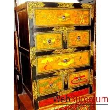 Meuble 6 tiroirs tibetain style Chine -C0874