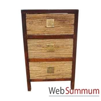 Chiffonnier 3 tiroirs style Chine -C0960