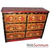 commode 6 tiroirs tibetain style chine c0389