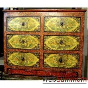 Commode 6 tiroirs tibetain style Chine -C0896