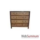 commode 4 tiroirs fer et orme brut style chine c0963