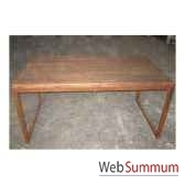 table rectangulaire fer et vieiorme brut style chine c0968