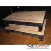 table opium structure laque noire plateau style chine c2300n nat