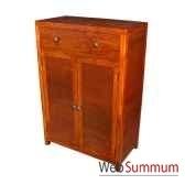 petite armoire de 2 portes et 1 tiroir strie meuble d indonesie 53935
