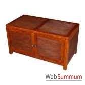 coffre bar strie avec 2 portes meuble d indonesie 53949