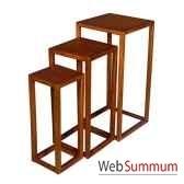sellettes strie set de 3 meuble d indonesie 53973