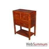 meuble d appoint avec 3 tiroirs strie pour rangement dvd meuble d indonesie 53975