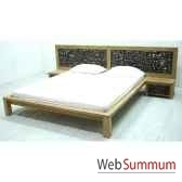 lit avec tete de lit tressee meuble d indonesie 56673