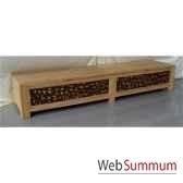 coffre bois avec 2 ouvrants tresses meuble d indonesie 56675
