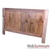 tete de lit en bois naturevieilli meuble d indonesie 56778nv