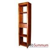 bibliotheque avec 2 tablette et 1 tiroir strie meuble d indonesie 53936