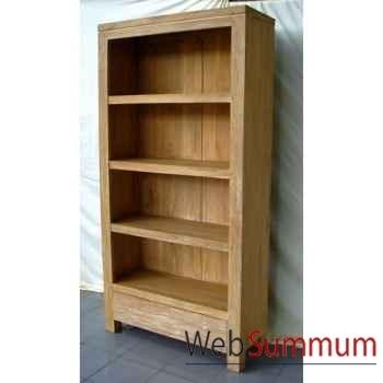Bibliotheque étagere bois naturel Meuble d'Indonésie -57055