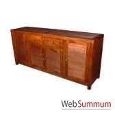 buffet avec 4 portes et 2 tiroirs strie meuble d indonesie 53939