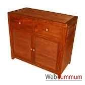 buffet de 2 portes surmontees de 2 tiroirs strie meuble d indonesie 53941