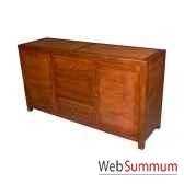 buffet avec 2 portes et 3 tiroirs strie meuble d indonesie 53943