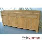buffet avec 4 portes et 4 tiroirs en bois naturemeuble d indonesie 57052