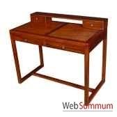 bureau strie dessus amovible avec 4 tiroirs meuble d indonesie 53991