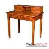 secretaire diane 4 tiroirs avec des poignees anneau et une niche meuble d indonesie 57012