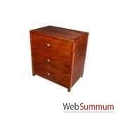 chiffonnier strie avec 3 tiroirs meuble d indonesie 53948
