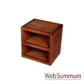 cube avec 1 tablette strie meuble d indonesie 53957
