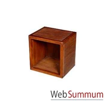 Cube vide strié Meuble d'Indonésie -53958