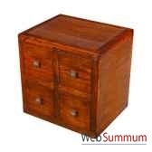 cube avec 4 tiroirs strie meuble d indonesie 53960