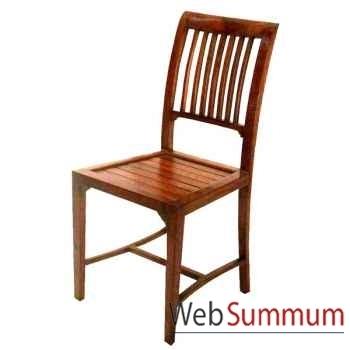 Chaise lasam en bois ciré Meuble d'Indonésie -56139