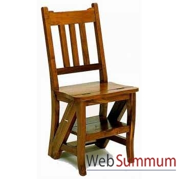 Chaise escabeau confortable Meuble d'Indonésie -56147