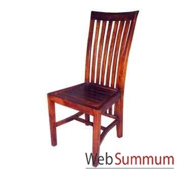 Chaise lattage bas fabriqué en Indonésie Meuble d'Indonésie -56156