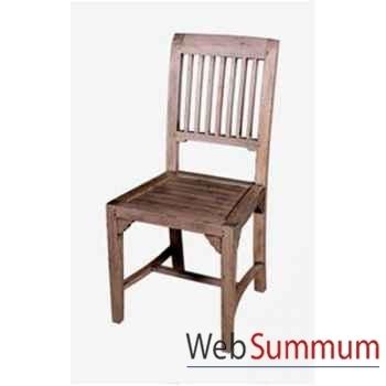 Chaise lasam en bois naturel vieilli très confortable Meuble d'Indonésie -56788NV