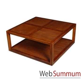 Table basse 2 planches strié Meuble d'Indonésie -53980