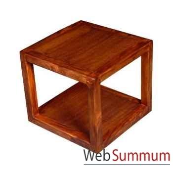 Table basse 2 planches strié Meuble d'Indonésie -53981