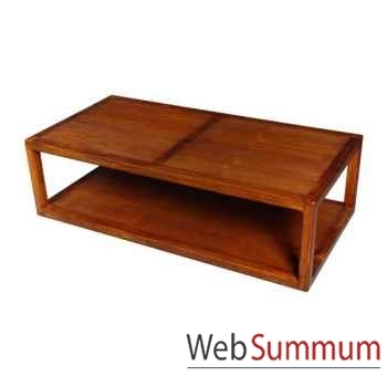 Table basse double planches strié Meuble d'Indonésie -53993
