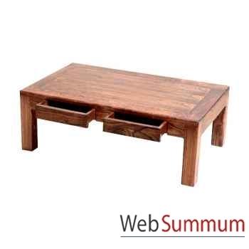 Table basse millenium 2 tiroirs Meuble d'Indonésie -54273