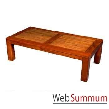 Table basse en bois ciré fabriqué en Indonésie Meuble d'Indonésie -56775CI
